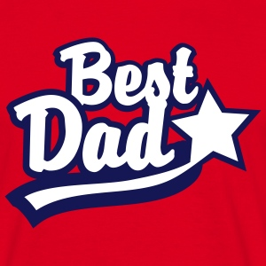 Best Dad Star T-Shirt - Men's T-Shirt