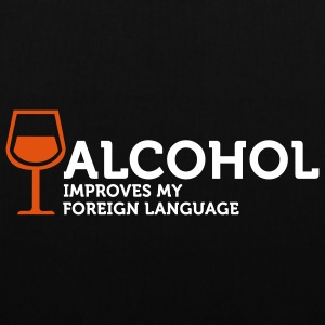 Alcohol improves my Foreign Language 3 (2c) Tassen - Tas van stof