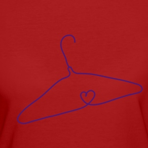 Wire coat hanger with a heart shape T-Shirts - Women's Organic T-shirt