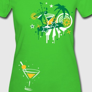 Cocktail Glas T-Shirts - Frauen Bio-T-Shirt