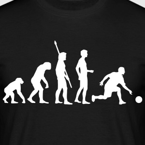 evolution_bowling_player_1c T-shirts - Mannen T-shirt