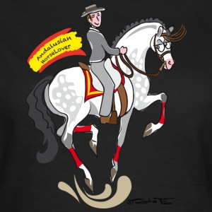 Andalusian Horselover Donna Black - Women's T-Shirt