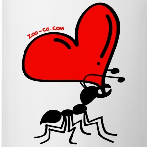 Ant Carrying the Love's Heart Mugs  - Mug