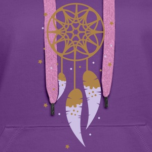 A dream catcher with three feathers Hoodies & Sweatshirts - Women's Premium Hoodie