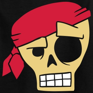 Totenkopf Pirat Kinder T-Shirts - Teenager T-Shirt