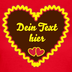 Typical German Gingerbread heart + Your Text T-Shirts - Women's T-Shirt