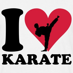 I love Karate T-shirts - Herre-T-shirt