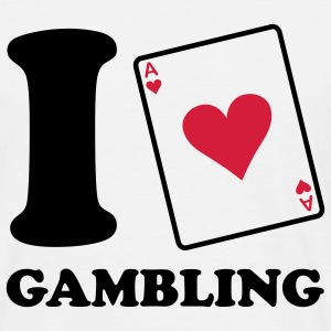 I love Gambling - Poker T-shirts - Mannen T-shirt