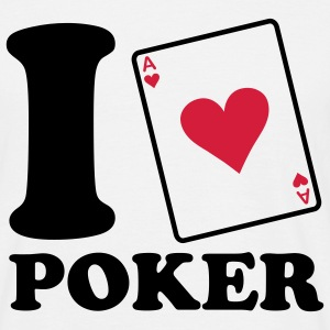 I love Poker T-shirts - Herre-T-shirt