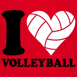 I love Volleyball Camisetas - Camiseta hombre