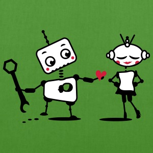 The robot gives away his heart Bags  - EarthPositive Tote Bag