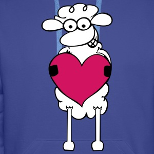 Sheep with heart Hoodies & Sweatshirts - Men's Premium Hoodie