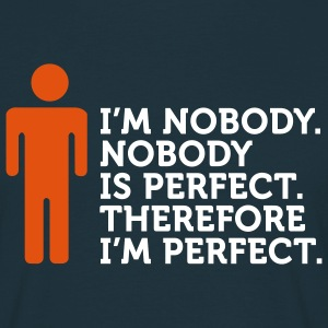 Nobody's Perfect (2c) T-shirts - Mannen T-shirt