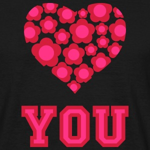 love_blumenherz_you_2c_c Tee shirts - T-shirt Homme