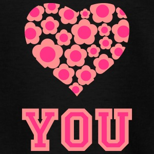 love_blumenherz_you_2c_c Shirts - Teenage T-shirt