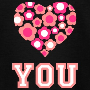 love_blumenherz_you_3c_c Tee shirts - T-shirt Ado