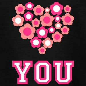 love_blumenherz_you_3c_d Shirts - Teenage T-shirt