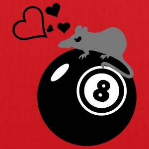 Pool-Billard-Ratte / rat loves eight ball (3c) Taschen - Stoffbeutel