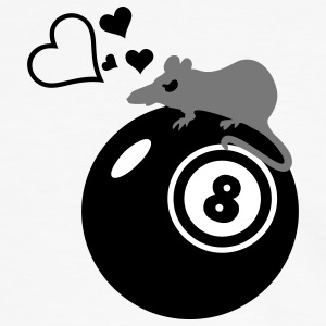 billar rata Henry / rat loves eight ball (3c) Camisetas - Camiseta contraste hombre