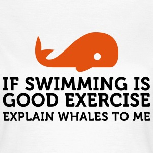 If swimming is great exercise, explain Whales (2c) T-Shirts - Women's T-Shirt