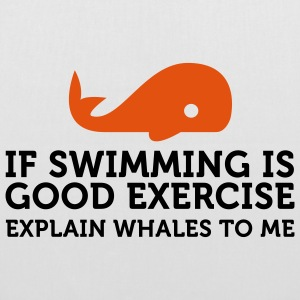 If swimming is great exercise, explain Whales (2c) Bags  - Tote Bag