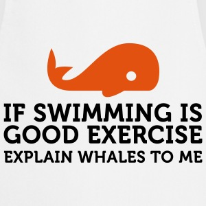 If swimming is great exercise, explain Whales (2c) Delantales - Delantal de cocina