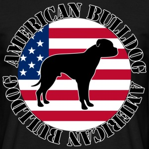 American Bulldog - Stars and Stripes 02 T-Shirts - Männer T-Shirt