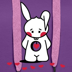Rabbit looks for the right heart Hoodies & Sweatshirts
