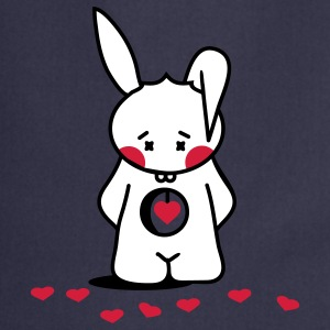 Rabbit looks for the right heart  Aprons - Cooking Apron