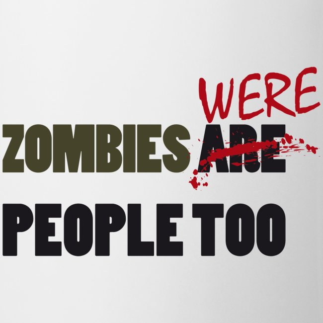 The walking dead - zombies were people too - taza