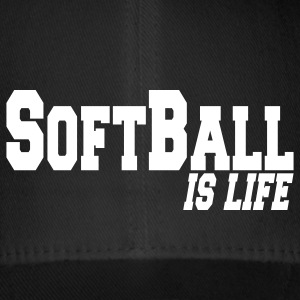 softball is life Caps & Hats - Flexfit Baseball Cap