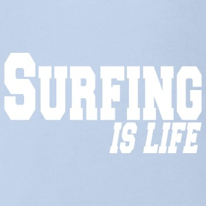 surfing is life Baby Body - Baby Bio-Kurzarm-Body
