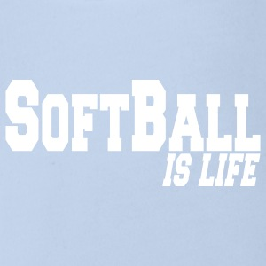 softball is life Baby Body - Baby Bio-Kurzarm-Body