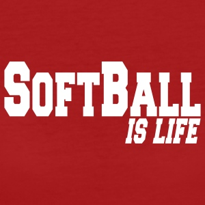 softball is life T-shirt - T-shirt ecologica da donna