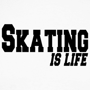 skating is life Long sleeve shirts - Men's Long Sleeve Baseball T-Shirt
