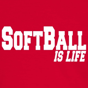 softball is life T-shirts - T-shirt contraste Homme