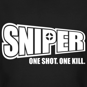 Sniper One Shot One Kill T-Shirts - Männer Bio-T-Shirt