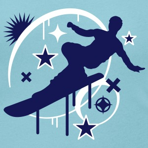 Snowboarder in Action T-Shirts - Women's Scoop Neck T-Shirt