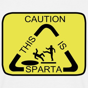 Caution this is Sparta - Maglietta da uomo