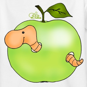 Apfelwurm im Granny Smith Kinder T-Shirts - Teenager T-Shirt