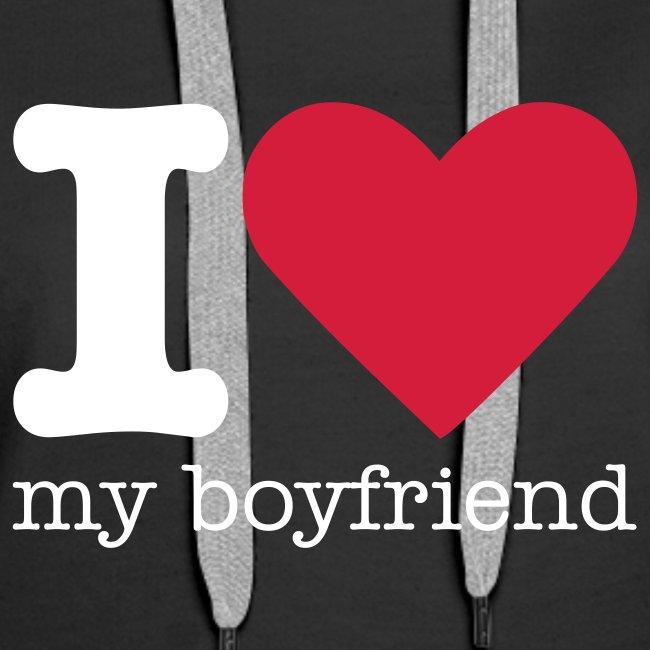 Valentijn I Love My Boyfriend Sweater Vrouwen Premium Hoodie