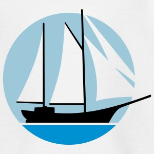 segelschiff_f_3c T-shirts - Teenager-T-shirt