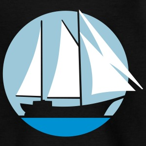 segelschiff_g_3c_black Shirts - Teenage T-shirt