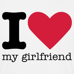 I Love My Girlfriend T-shirts - Mannen T-shirt