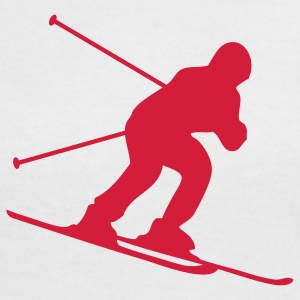 skiing downhill T-Shirts - Frauen Kontrast-T-Shirt