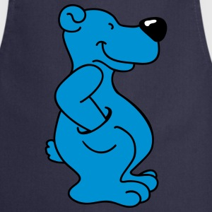 Blue bear with pocket  Aprons - Cooking Apron