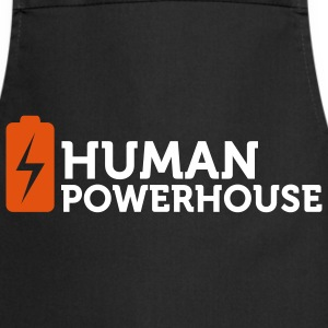 Human Powerhouse (2c)  Aprons - Cooking Apron