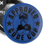 Design ~ Code Cop, 'Approved'