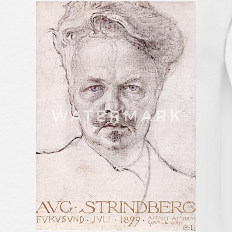 August Strindberg - T-shirt herr