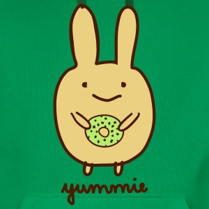 Dirk yummie bunny bunnies hare rabbit donut doughnut sweets monster easter Hoodies & Sweatshirts - Men's Premium Hoodie